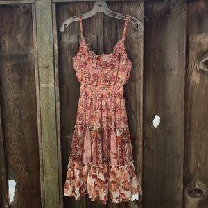 American Rag Cie floral boho dress size medium